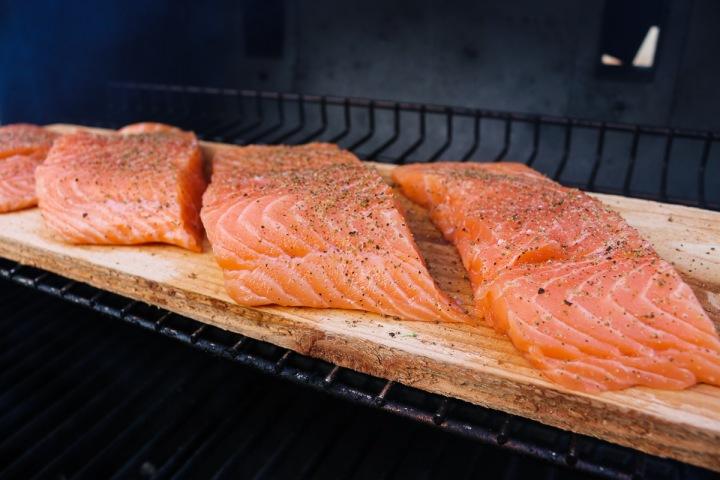Food Exploring :: Cedar-Plank Salmon andVeggies