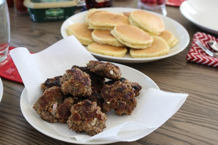 Maple Breakfast Sausage with SageLeaves