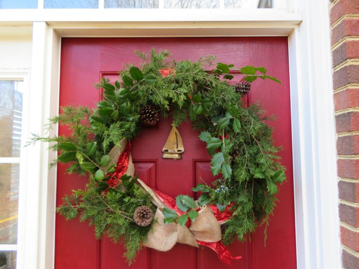 Simple Foraged Christmas Wreath