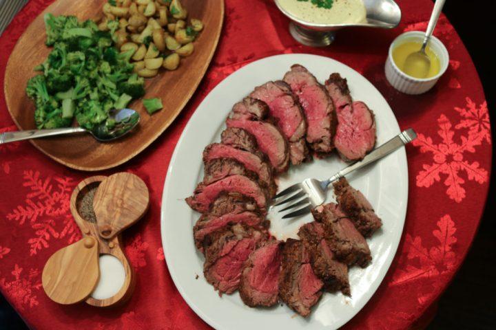 Spice Rubbed Beef Tenderloin with Creole MustardSauce