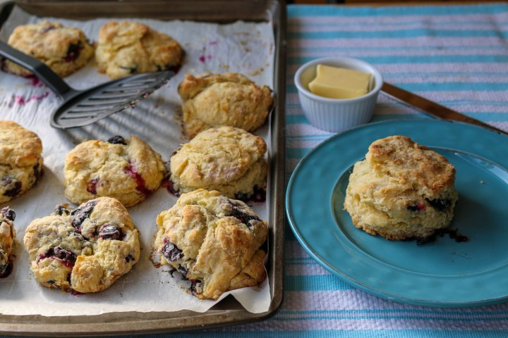 Blueberry Maple Round Scones