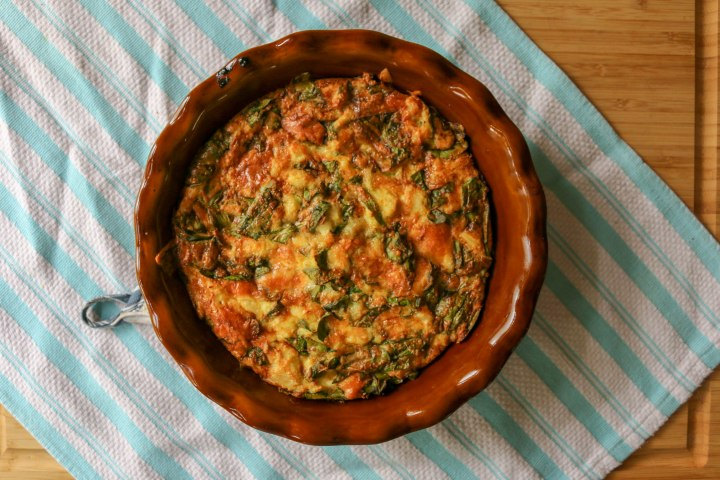 Crustless Crab + SpinachQuiche