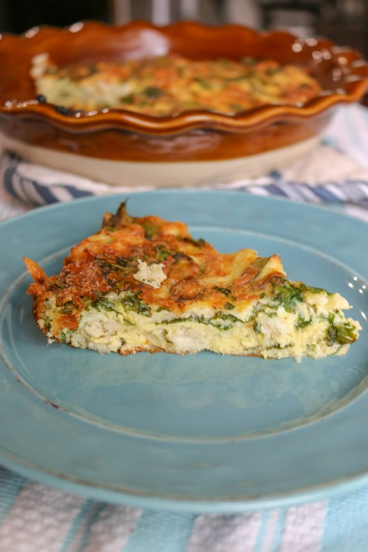 Crab and Spinach Quiche-9413