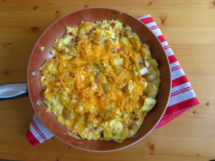 Cheddar Potato SkilletScramble