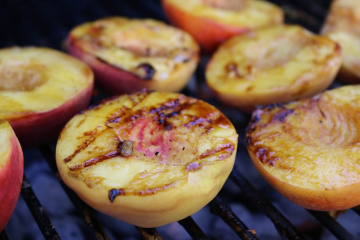Simple + Sweet Grilled Peaches + IceCream