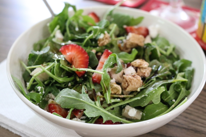 Spring Greens Salad with Fresh Strawberries