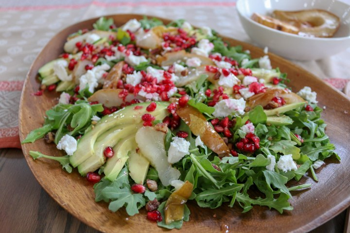 Avocado Pomegranate Salad with PomegranateVinaigrette
